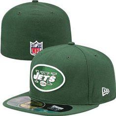 fb140064faf NFL Mens New York Jets On Field 5950 Hunter Green Game Cap By New Era Jet