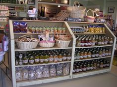 old general stores   Old Barn General Store Food tiered shelving