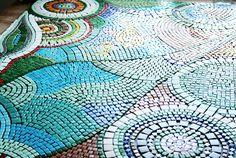Mosaiktisch, Mosaictable, table, Terassentisch, Mosaik, Mosaic Patio Table, Diy Table, Red Apple, Bunt, Blanket, Crochet, Ideas, Mosaics, Crafting