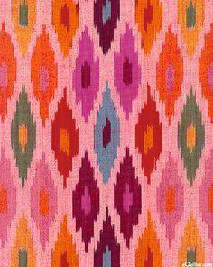 Seminole - Ikat Ethnic Abstract Yarn-Dye - Pink