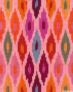 Seminole - Ikat Ethnic Abstract Yarn-Dye - Pink