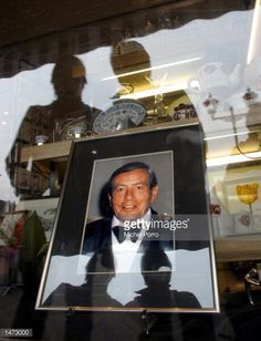 A portrait of Prince Claus is shown on display in a porcelain shop window October 13 2002 in Delft The Netherlands Prince Claus husband to Queen...