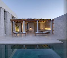 Greece knows great getaways, and this one would be perfect for a couples escape pool side soiree.