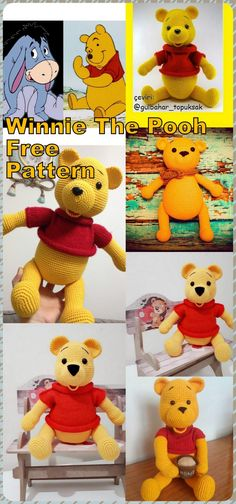 In this article we will share the amigurumi winnie the pooh crochet free pattern. Amigurumi related to everything you can not find and share with you. Crochet Baby Blanket Tutorial, Crochet Baby Dress Pattern, Crochet Bunny, Crochet Patterns Amigurumi, Free Crochet, Winnie The Pooh, Plush Pattern, Free Pattern, Knitted Animals