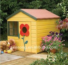 Sunflower Kids Outdoor Wooden Playhouse - Buy Outdoor Wooden Playhouse,children…