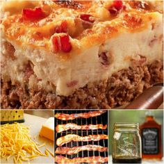 Cowboy Meatloaf Bacon and Potato Casserole