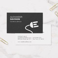 ELECTRICIAN LOGO MODERN BUSINESS CARD I