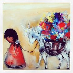 DeGrazia's beloved children in the sun. Reminds me of my little Mamas❀ Tucson AZ