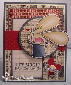 bunny, Cat's Pajamas stamp, Valentine's