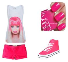 """""""I'm a Barbie Girl, in a Barbie world."""" by fabiennes ❤ liked on Polyvore featuring Miss Selfridge, Jack Wills, NARS Cosmetics, pink and barbie"""