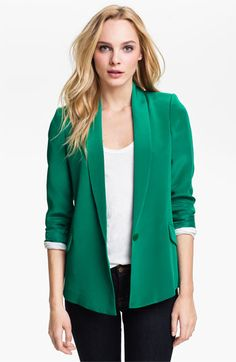 I'm on a blazer kick. Makes me feel more profess at the office oh and the color is pretty :)
