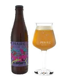 Cerveja Prairie Eliza5beth, estilo Saison / Farmhouse, produzida por Prairie Artisan Ales, Estados Unidos. 7% ABV de álcool.