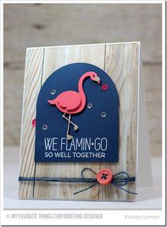 Tickled Pink, Flamingos Die-namics, Blueprints 3 Die-namics - Karolyn Loncon #mftstamps
