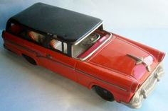 1955 Ford Station Wagon Friction Toy Automobile made in Japan by Bandai #Bandai