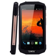"""AGM STONE 5S Smartphone Full Specification, IP67 Waterproof Dustproof Shockproof HD 5.0"""" multi-point capacitive touch screen with 1280×720 pixels resolution CPU: Qualcomm MSM8926 1.2GHz Quad Core; GPU: Adreno 305 Android 4.4.2 operating system to download apps, RAM 1GB + ROM 8GB Dual camera: 2.0 MP front camera and 8.0 MP rear camera Supports Wi-Fi, G-sensor, Bluetooth, GPS and FM radio Supports an external TF card up to 32GB 2G: GSM 850/900/1800/1900MHz"""