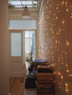 i want to do this either by the door or above the fireplace with staggered lengths.
