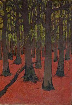 La forêt au sol rouge (Georges Lacombe)