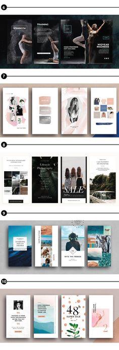 Crear Diseños Interesantes Para Historias En Instagram: Plantillas Para Insta Stories   Ya que las personas pasan más tiempo mirando insta stories, una técnica para resaltar en Instagram es utilizar plantillas para insta stories.