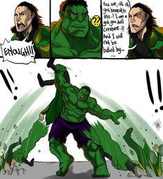 Puny God! #Hulk #Loki #EpicScene