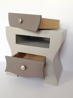 New cardboard chest of drawers