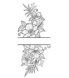 Leg Tattoos, Flower Tattoos, Body Art Tattoos, Tattoo Drawings, Small Tattoos, Sleeve Tattoos, Dream Tattoos, Future Tattoos, Mandala Tattoo Design