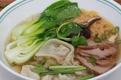 Vietnamese Soul Food: Won Ton Soup with Pork and Shrimp Filling-Hoanh Thanh Nhan Tom Thit