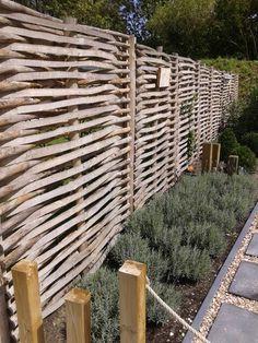Mooie oplossing voor tuinafscheiding!