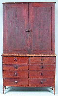 Mixed wood Cupboard Top Apothecary Cabinet. Molded