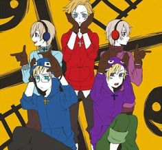 "Hetalia (ヘタリア) & Vocaloid crossover - The Nordic 5 (北欧ファイブ) in ""Matryoshka""!"