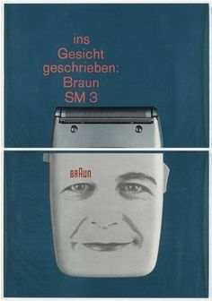 Braun SM3 Poster, Designed by Karl Gerstner, 1960