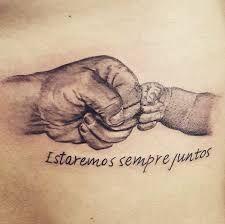 Amor e pareceria eterna. Tatuagem de pai pra filho. Feita ...