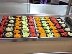Fruit display from the School Nutrition Department of Meigs County, Tennessee, working to provide nutritious, healthy, and relaxing meals in an enjoyable environment.