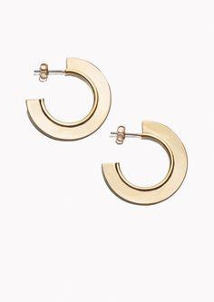 & Other Stories Hoop Earrings in Gold