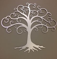 Tree of Life - our front door push plate.