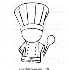 chef hat colouring pages (page 2) More