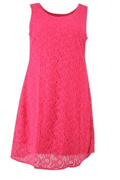 Jurk mouwloos kant gevoerd :: jurken :: Grote maten mode | Bagoes fashion | grote maten mode online