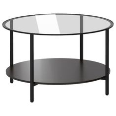 IKEA VITTSJÖ Coffee table Black-brown& 75 cm The table top in tempered glass is stain resistant and easy to clean. Wood Console Table, Glass Table, Furniture, Interior, Glass Coffee Table, Glass Side Tables, Ikea Coffee Table, Tray Table, Ikea Vittsjo