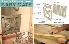 DIY Barn Door Baby Gate – Free Plans - Home Design - Google+