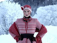 Beautiful knitted sweater, scarf & hat for the holidays