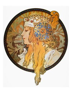 Alphonse Mucha: Mucha Poster. My favorite artist and style of art.