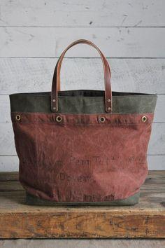 1930's era Dover, NH Canvas Tote Bag
