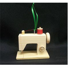 Ornament sewing machine Christmas wood Light fan by SSWOODCRAFT,  @Mary Jo Cartledgehayes, I thought of you!