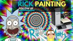 🖨 Rick printed model painting from the Rick and Morty show Rick And Morty, 3d Printer, Printed, Model, Painting, Scale Model, Painting Art, Paintings