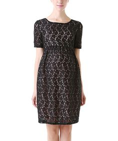 Look what I found on #zulily! Black Clover Maternity Dress by MOMO Maternity #zulilyfinds $59.99, regular 98.00