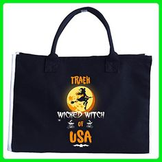 Traeh Wicked Witch Of Usa. Halloween Gift - Tote Bag - Top handle bags (*Amazon Partner-Link)