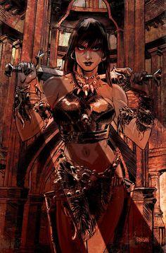 Barbarian Woman, Conan The Barbarian, Fantasy Character Design, Character Design Inspiration, Character Art, Fantasy Castle, Medieval Fantasy, Fantasy Women, Dark Fantasy Art