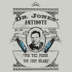 """Dr. Jones' Antidote- Indiana Jones"" T-Shirts & Hoodies by spacemonkeydr 