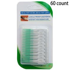 Lowest Price ! 60PCS/Pack Elastic massage the gums between the teeth brushing teeth brushing seam soft brush massage gums