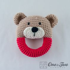 Teddy Bear Rattle   PDF Crochet Pattern   Instant Download