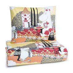 Rosemumi sengesættet fra Finlayson. Sengesættet er fremstillet i blødt bomuld med illustration fra den velkendte bog
